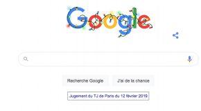 Condamnation Google par jugement du TJ de Paris du 12 Février 2019 contre UFC-Que-Choisir